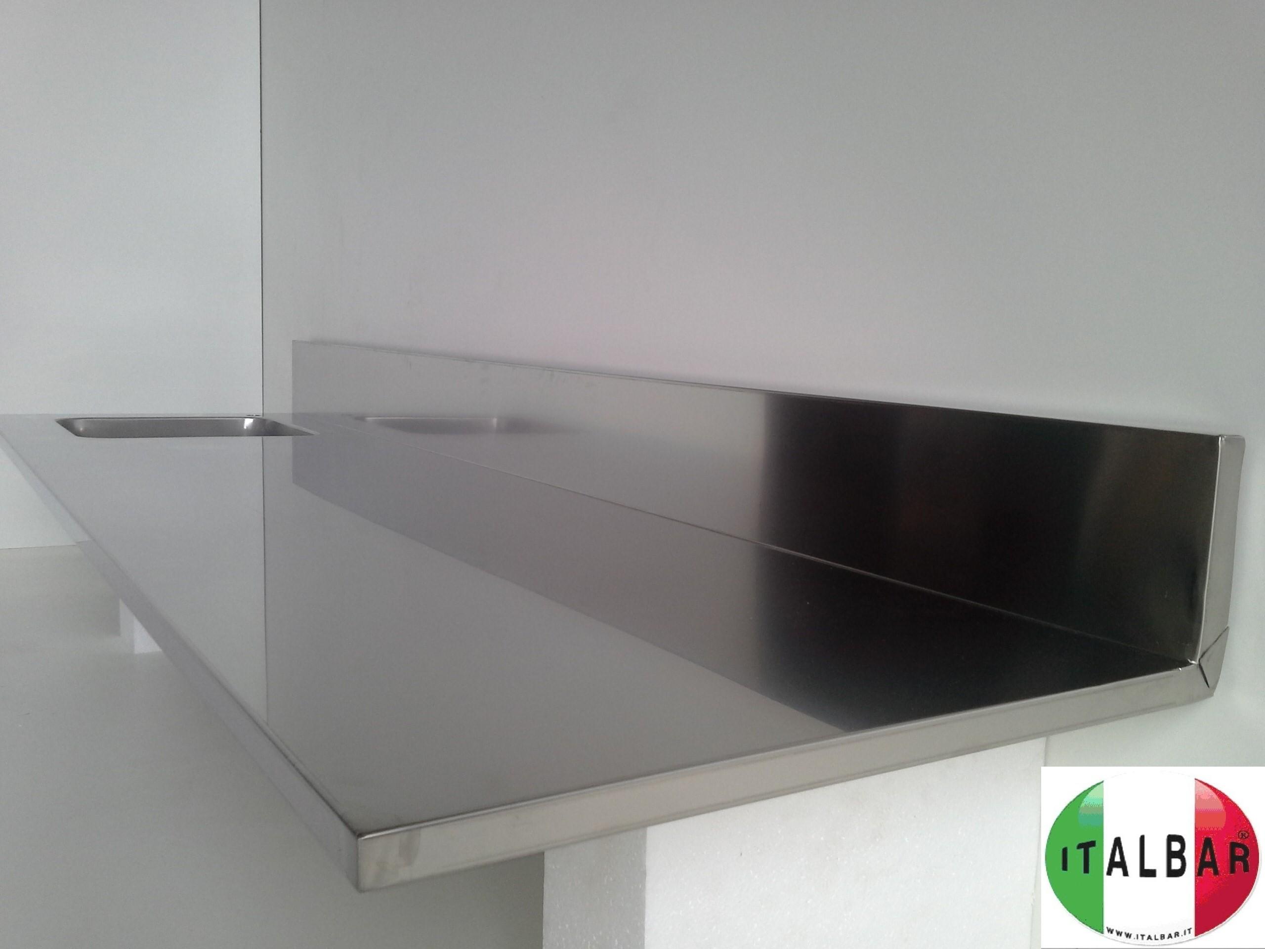 Banchi bar produttori banchi bar grezzi e rivestiti banco bar in pronta consegna workstation - Alzatina cucina acciaio ...